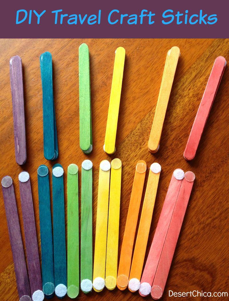 DIY Travel Activity Craft Sticks