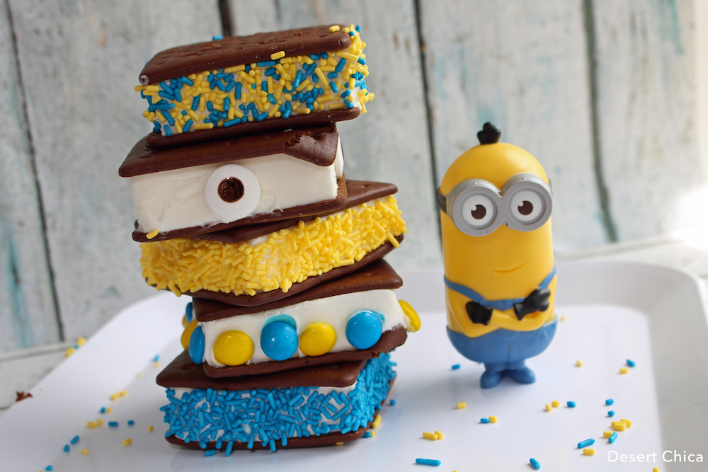 Minion Ice Cream Sandwiches are an easy Minion dessert