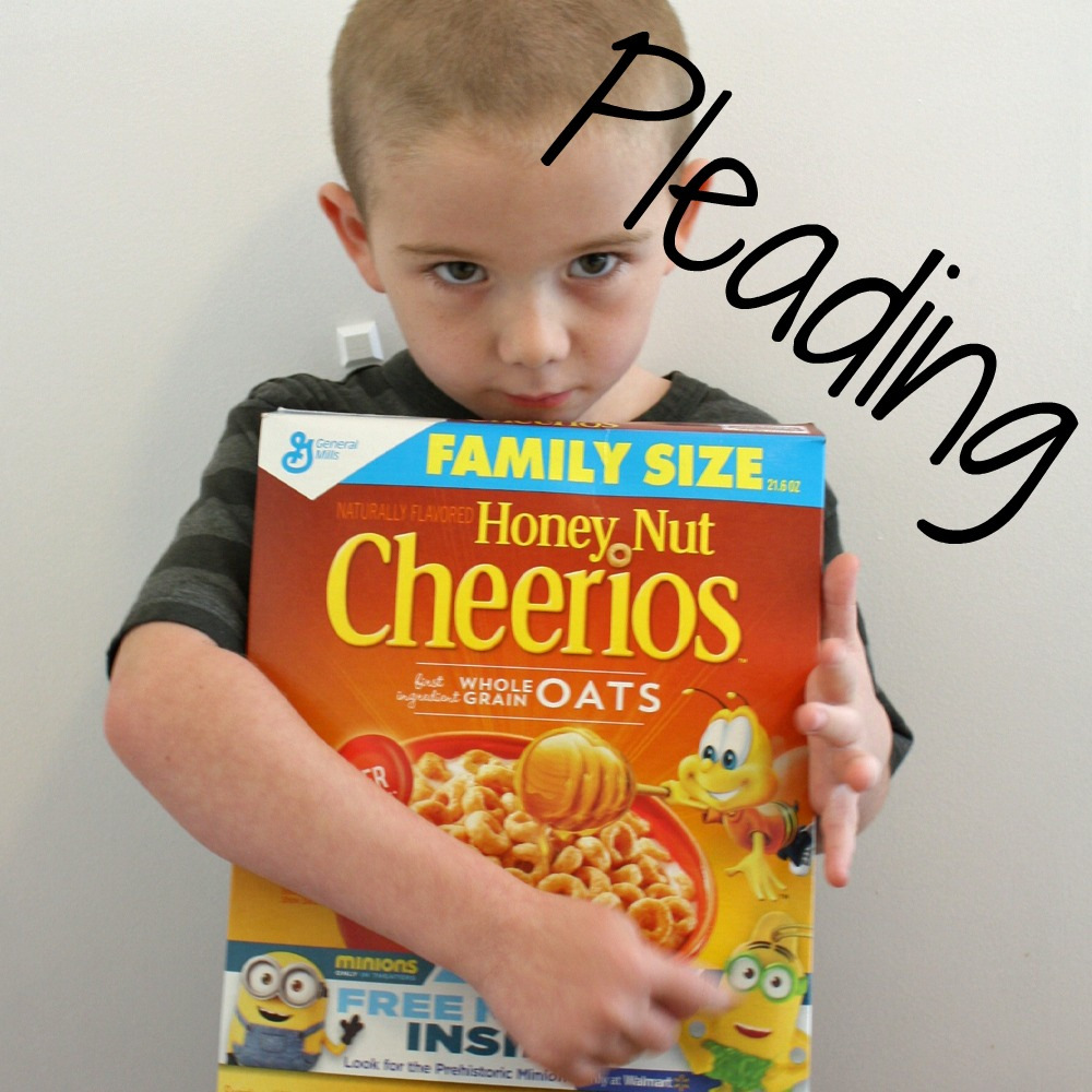 Minions in cereal Pleading
