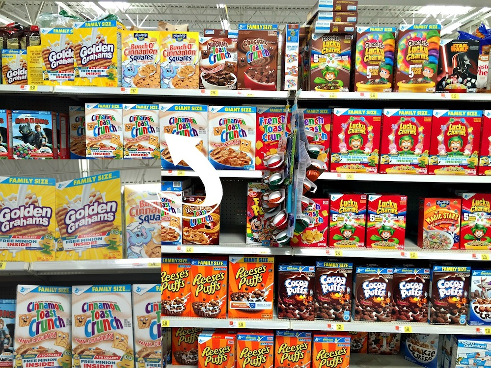 Minions in the Cereal aisle