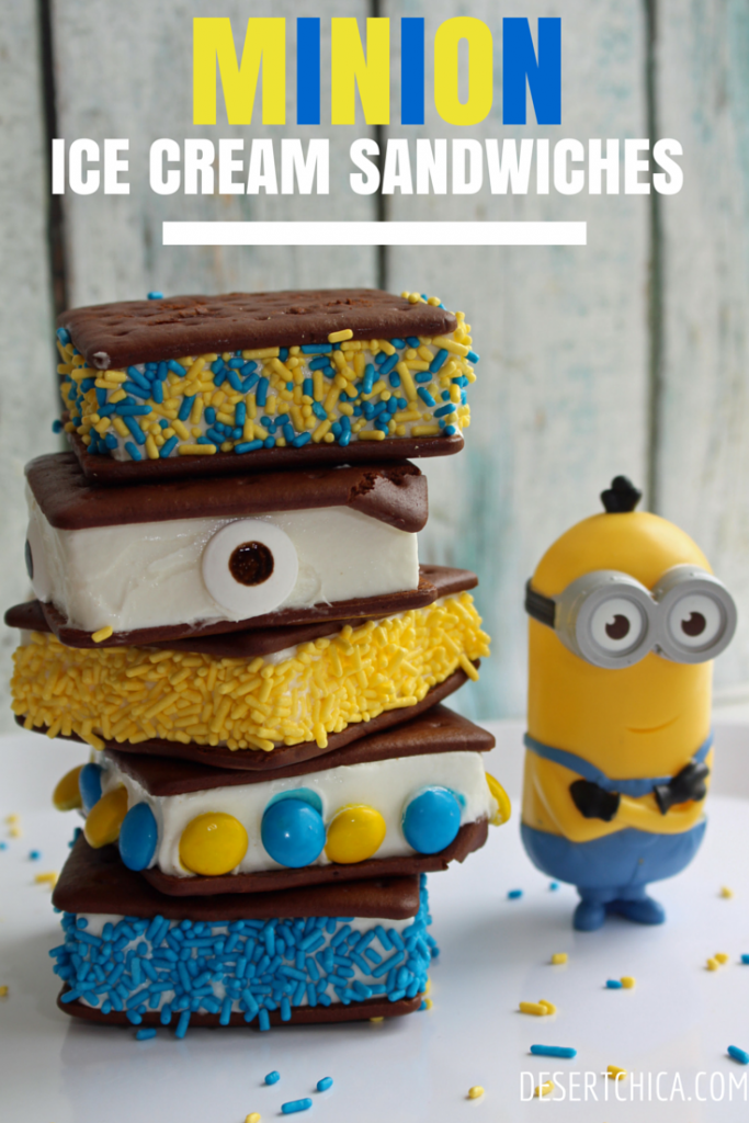 Minion Ice Cream Sandwiches