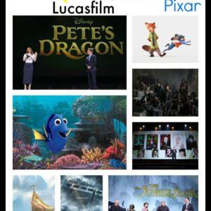 2016 Movies Slate Disney Marvel Lucasfilm pixar