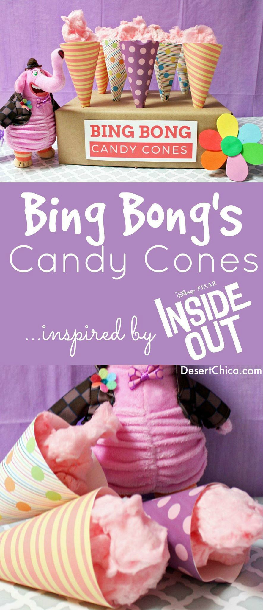 Bing Bong's Candy Cones inspired by Inside Out