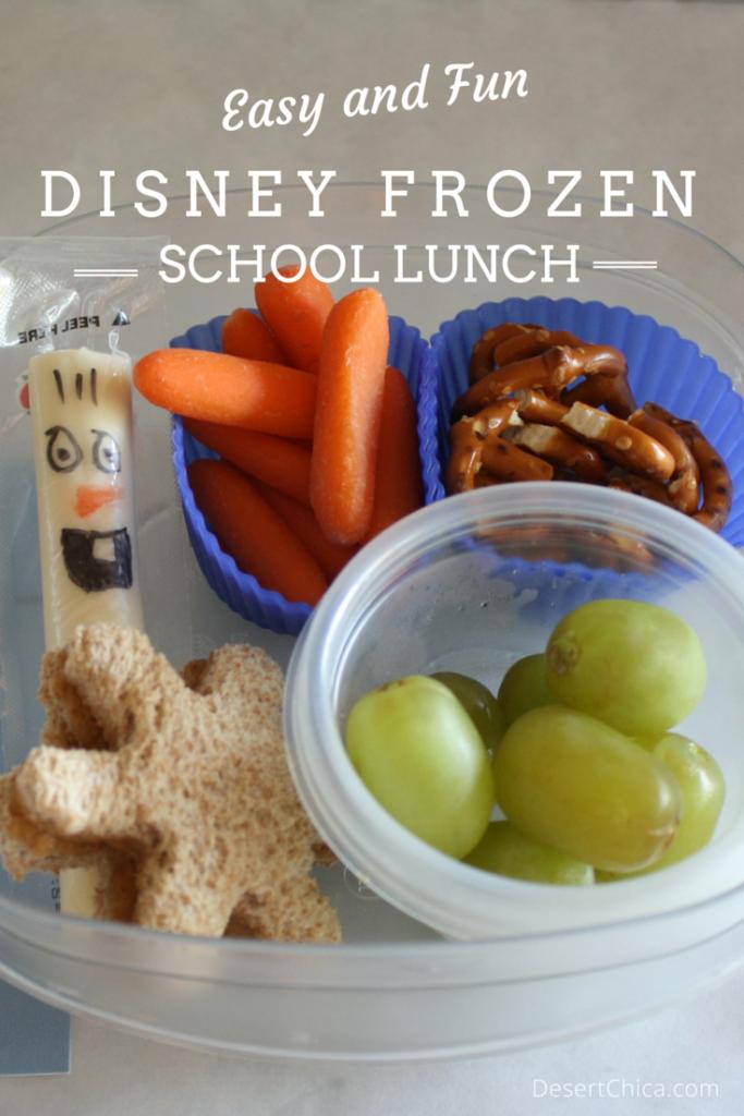 Disney Frozen School Lunch Idea