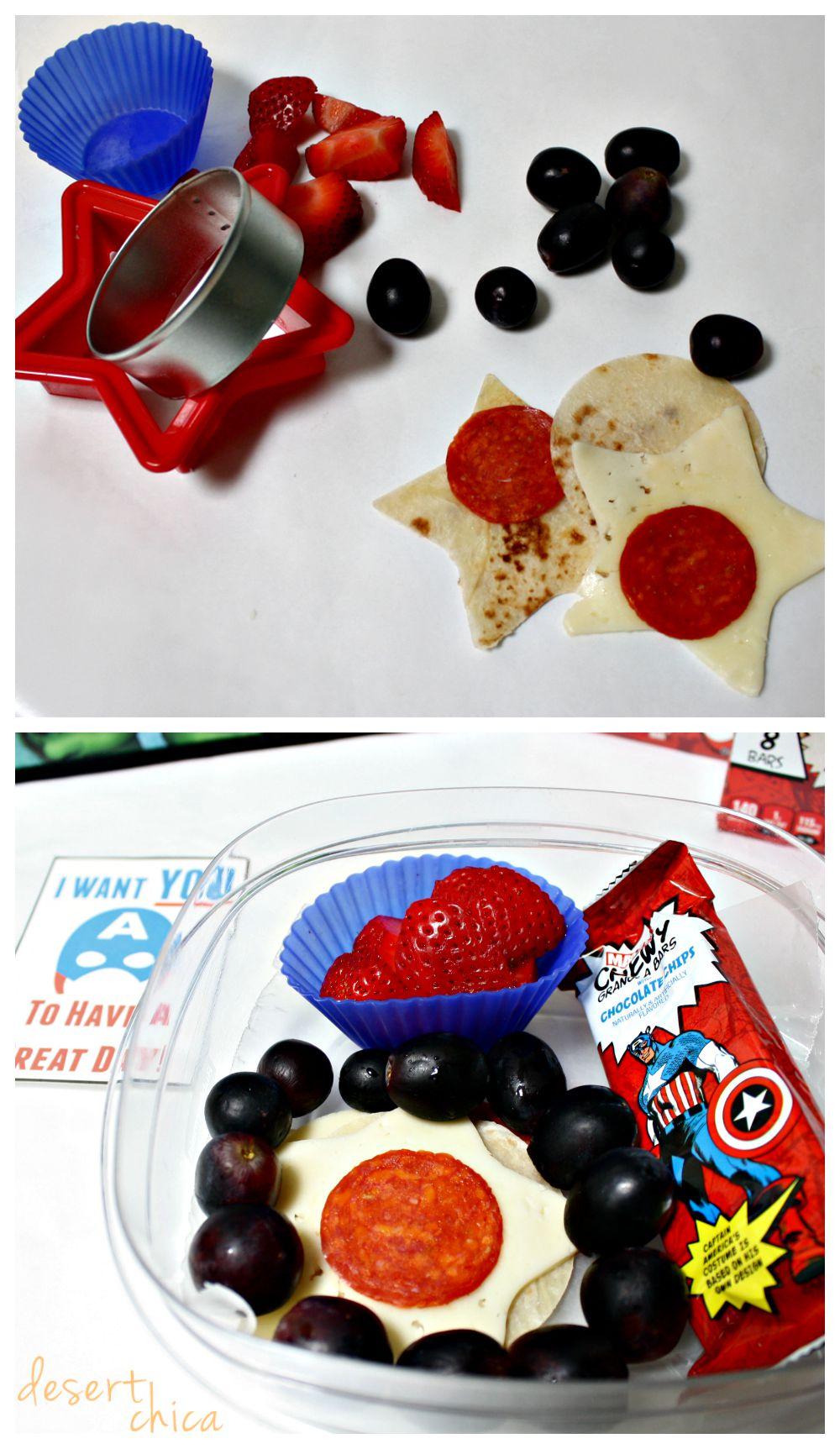 Easy Captain America School Lunch Idea