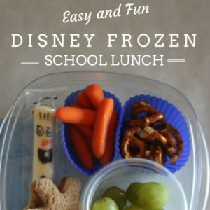 Easy and Fun Disney Frozen School Lunch