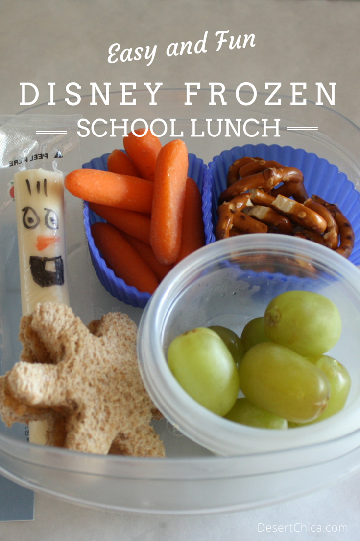 Easy and Fun Disney FROZEN School Lunch Ideas