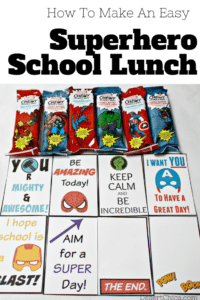 How to make an easy superhero school lunch