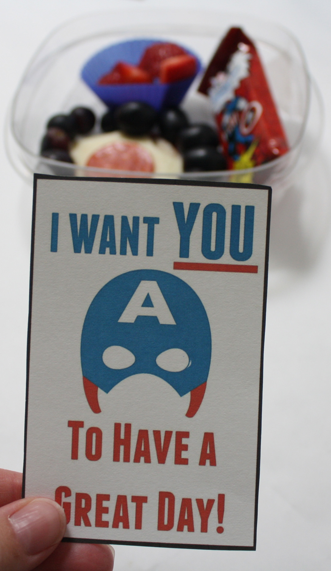 Free Superhero Lunch Box Notes