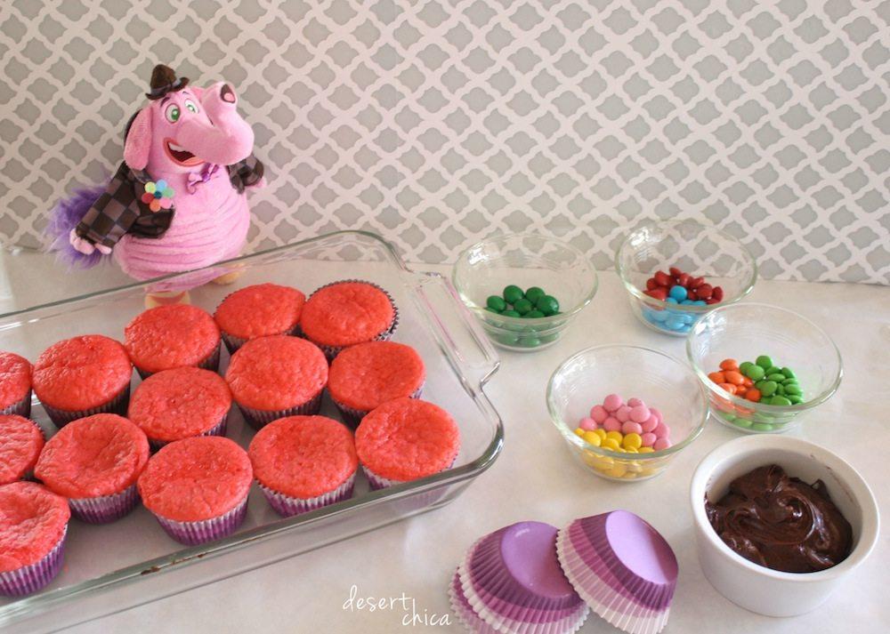 Inside Out Bing Bong Cupcake Ingredients
