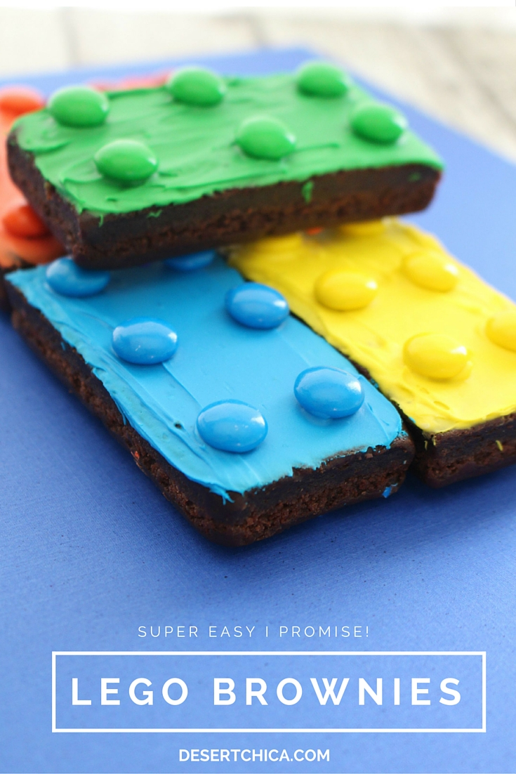 Need Easy LEGO Party ideas? This tutorial shows you how to make LEGO Brownies.