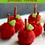 Back To School Red Apple Donut Holes