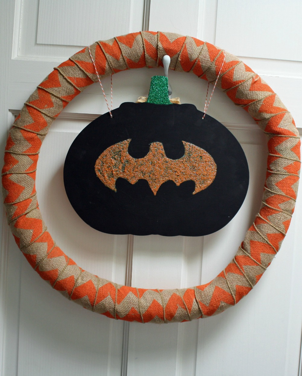 Easy Halloween Wreath and Thanksgiving Wreath Combination