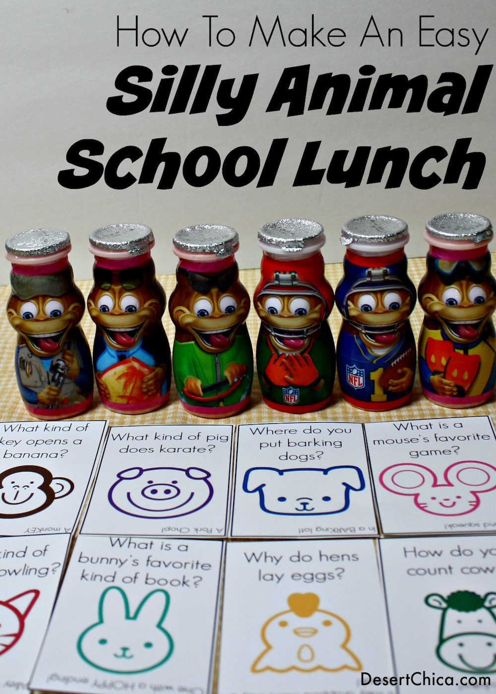 How to Make an easy silly animal school lunch