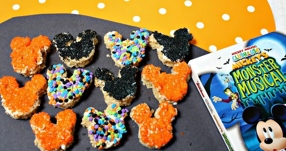 Mini Mickey Mouse Halloween Crispy Treats