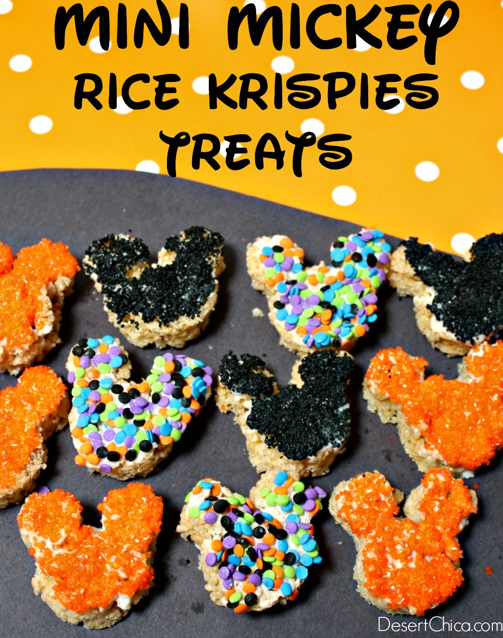 Mini Mickey Rice Krispies Treats