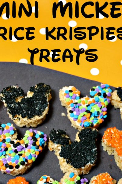 Mini Mickey Krispie Treats For Halloween