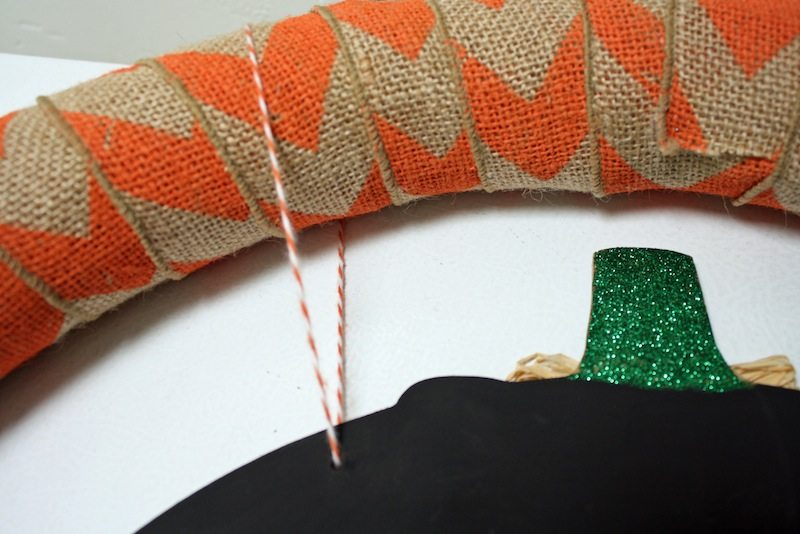 Orange bakers twine for fall wreath