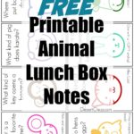 Silly Animal Lunch Box Notes
