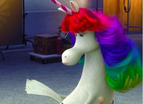 Rainbow Unicorn Character