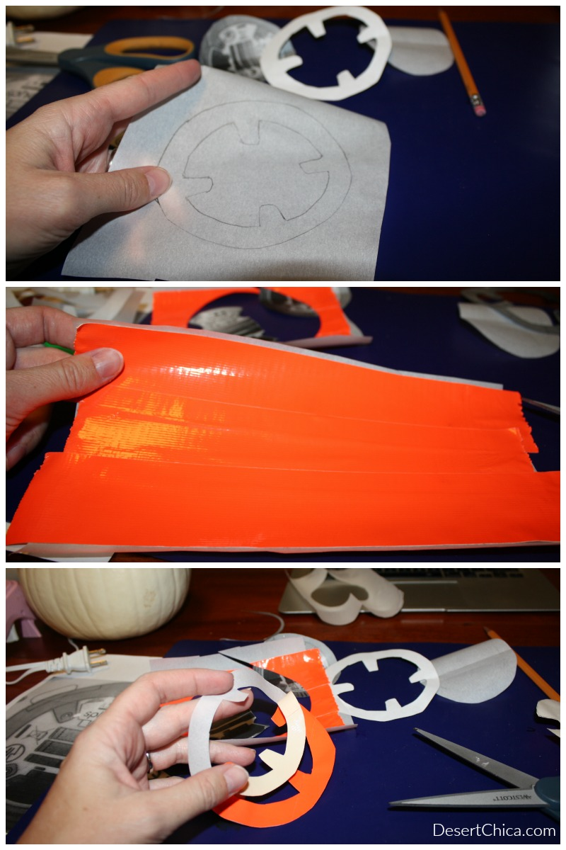 DIY BB-8 Pumpkin Decals