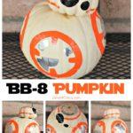 Easy BB-8 Pumpkin for Halloween