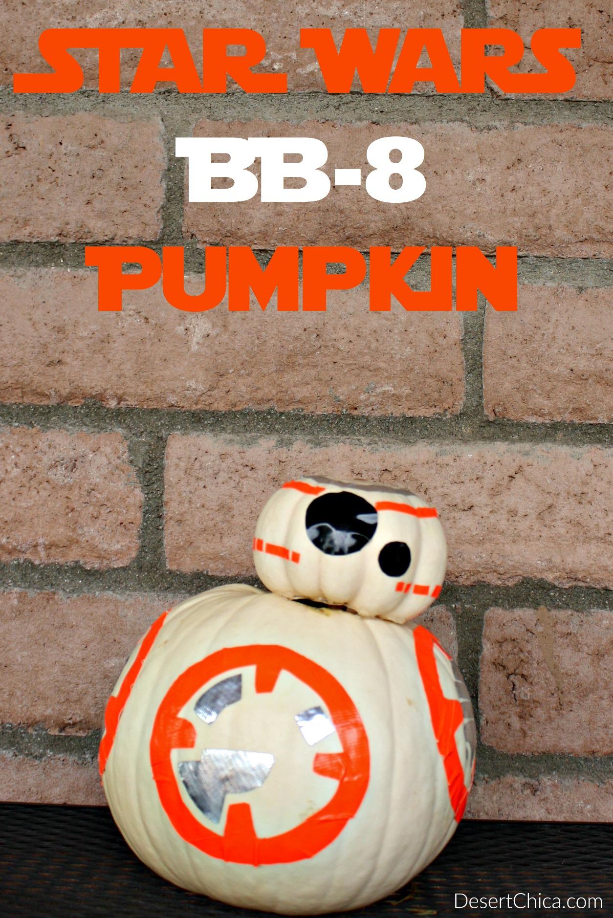 Easy Star Wars BB-8 Pumpkin