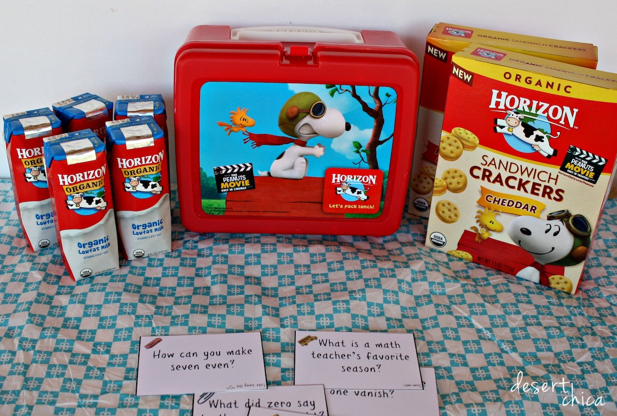 Horizon Organic Peanuts Movie Packaging Math Lunch Box Notes