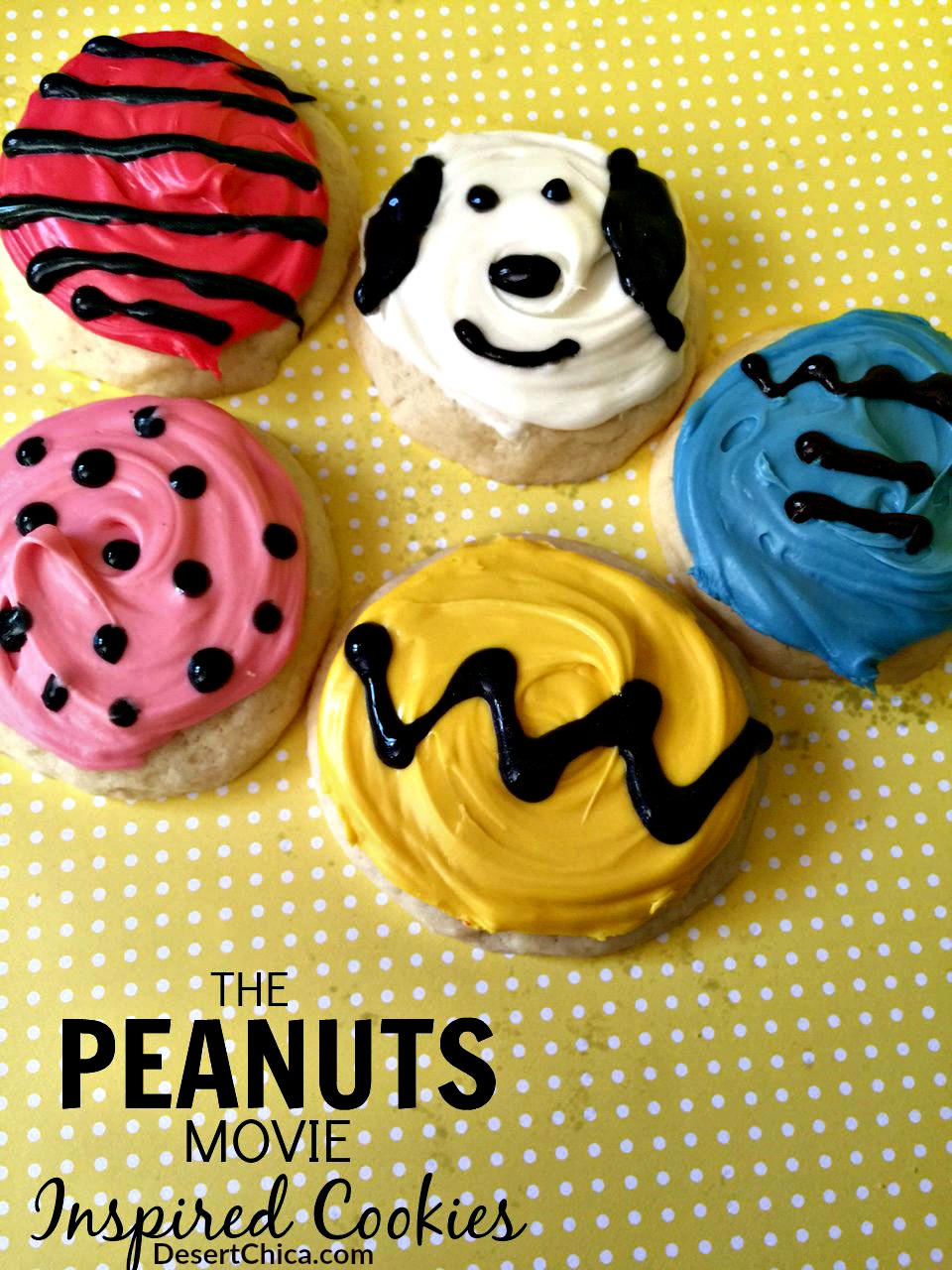 The Peanuts Movie Inspired Cookies