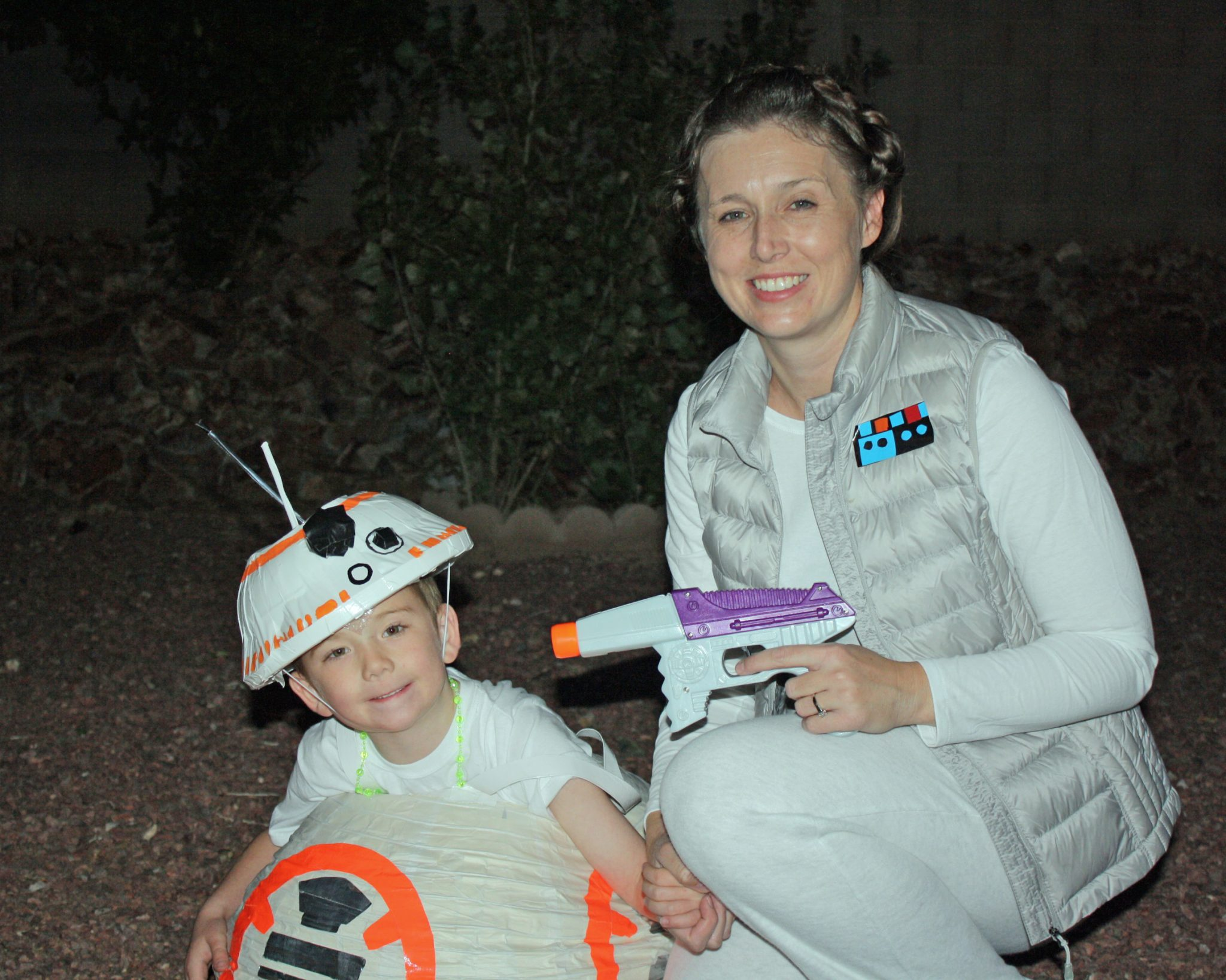 BB-8 and Leia Costumes  sc 1 st  Desert Chica & DIY Star Wars Costume Ideas | Desert Chica