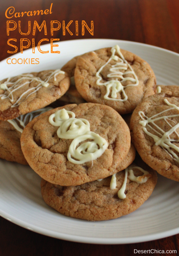Easy Caramel Pumpkin Spice Cookies