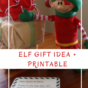 Elf Gift Idea and Free Printable