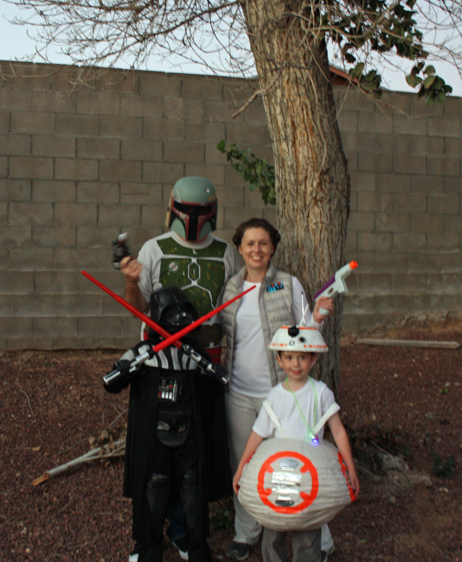 Star Wars hallowen Family picture