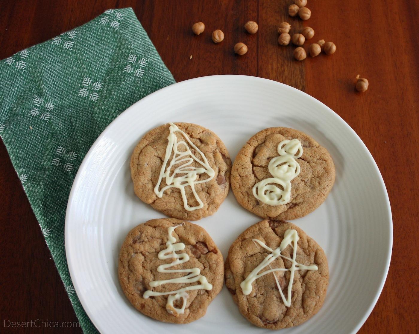 Thanksgiving Caramel Pumpkin Spice Cookies