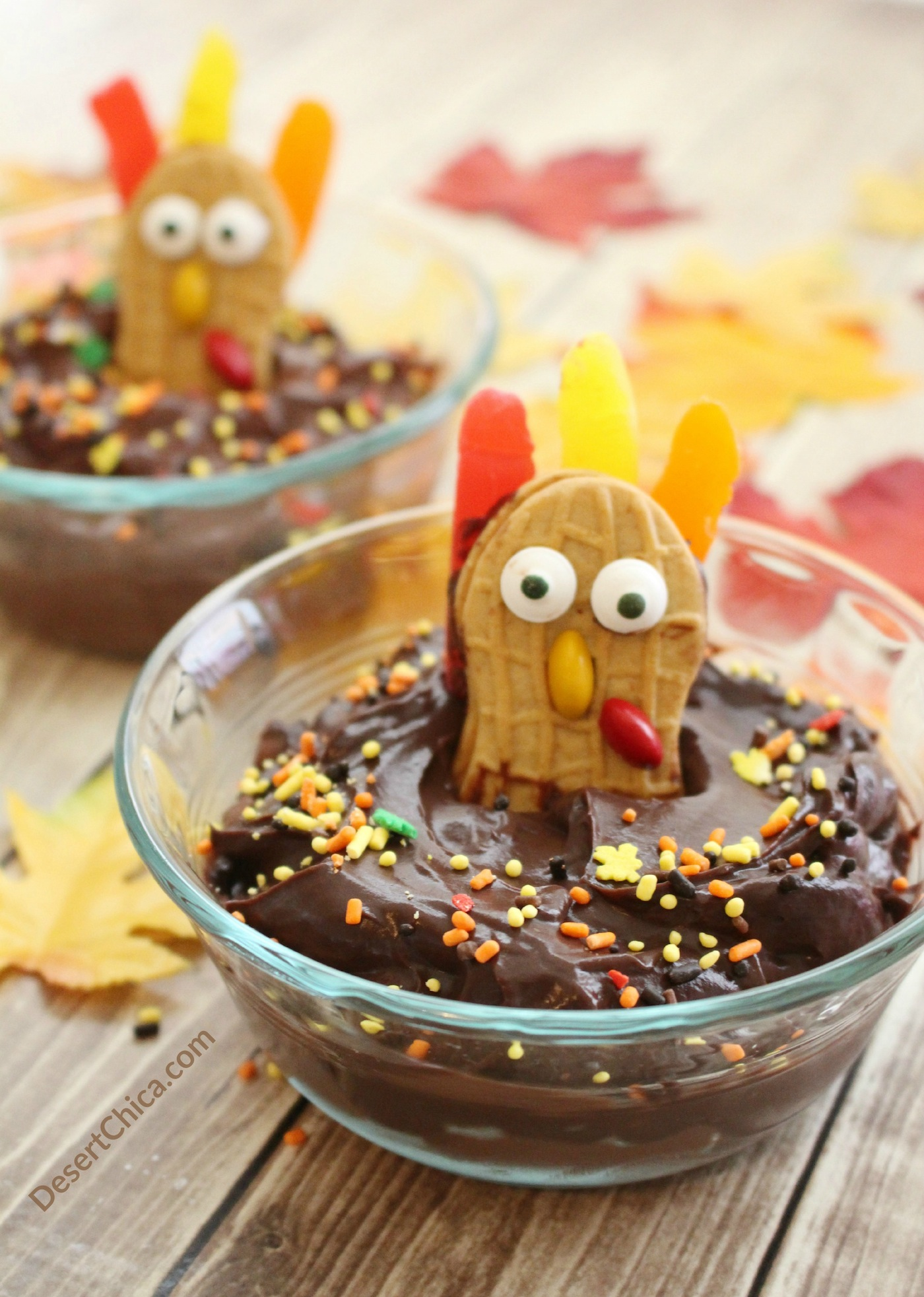 Thanksgiving kids dessert Turkey Pudding