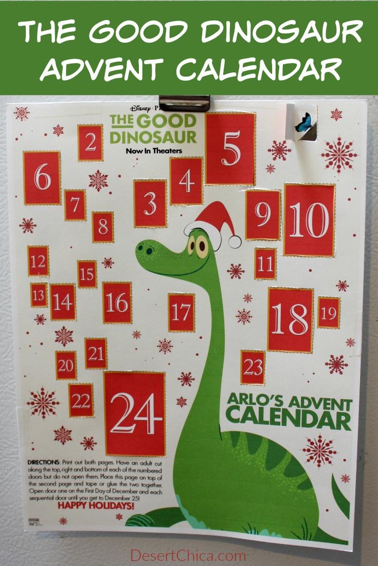 Good Dinosaur Printable Advent Calendar