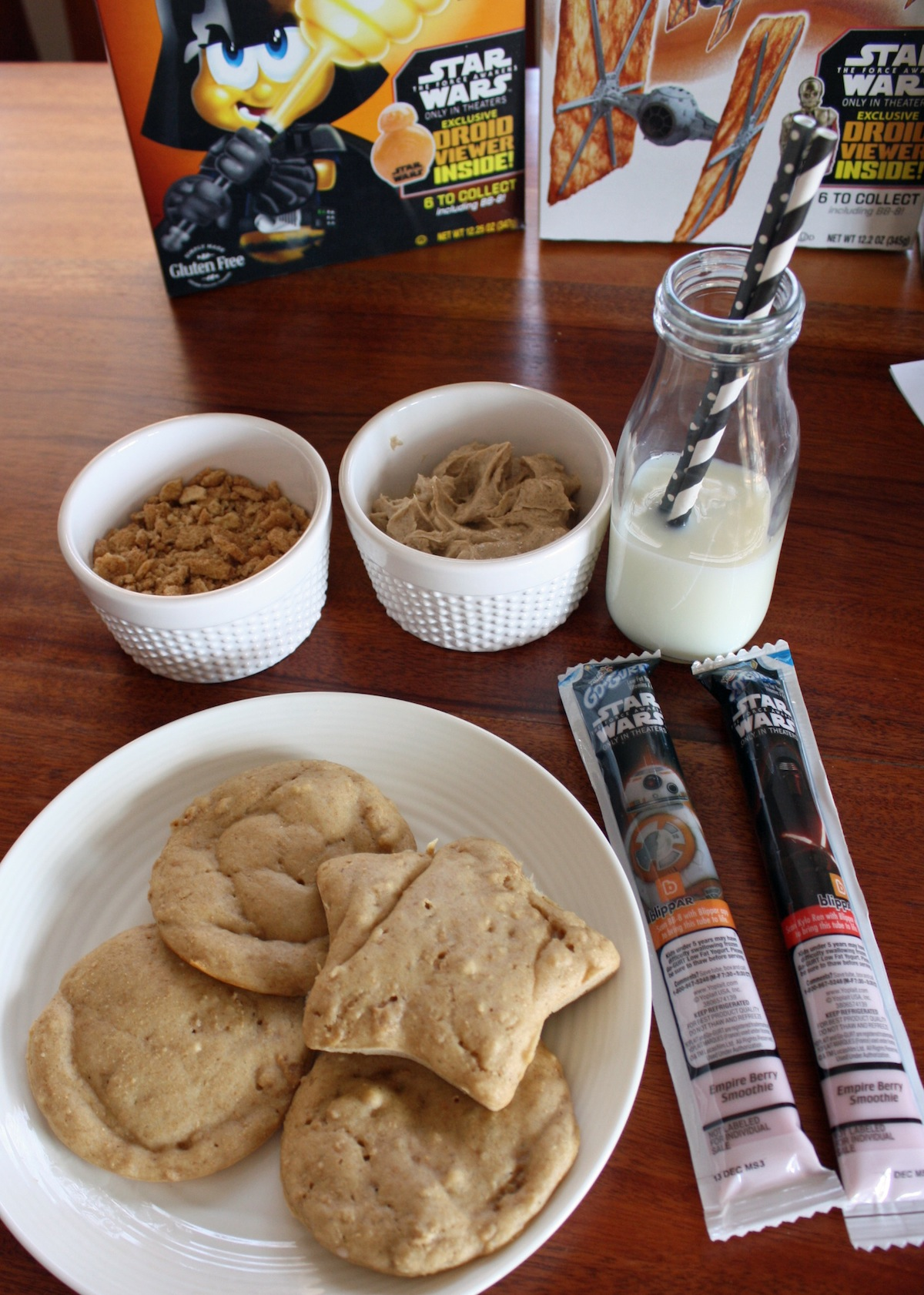 Cinnamon Toast Crunch Pancake Star Wars Breakfast Idea