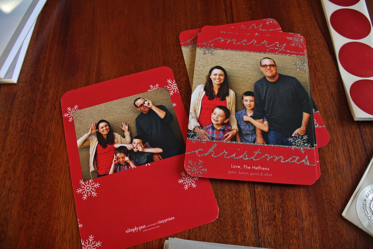 Glitter Christmas Cards at Tiny Prints