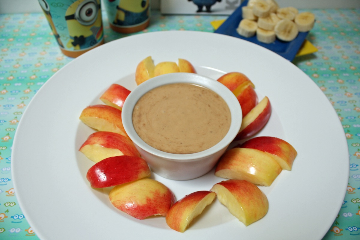 Healthier Minion Treat Peanut Butter Banana Dip
