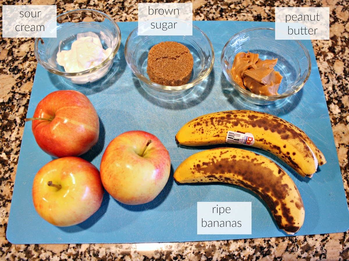 Healthy Minion Approved Treat Banana Dip Ingredients