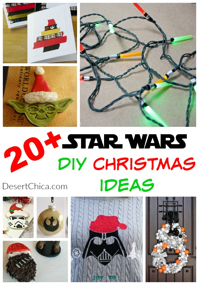 Over 20 Star wars christmas ideas from Star Wars Crafts and fun to food