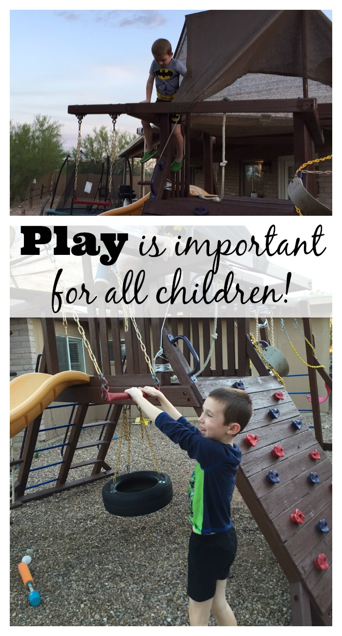 Play is important for all children