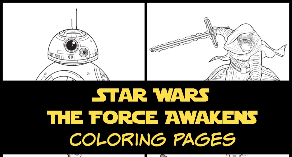 Printable Star wars the force awakens coloring pages and activities