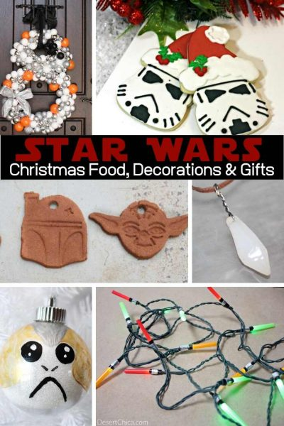Check out all these awesome Star Wars Christmas DIY ideas including Star Wars decorations, ornaments, gifts, lights, and recipe ideas. Star Wars Art | Disney Christmas Decorations | Star Wars Party Decorations