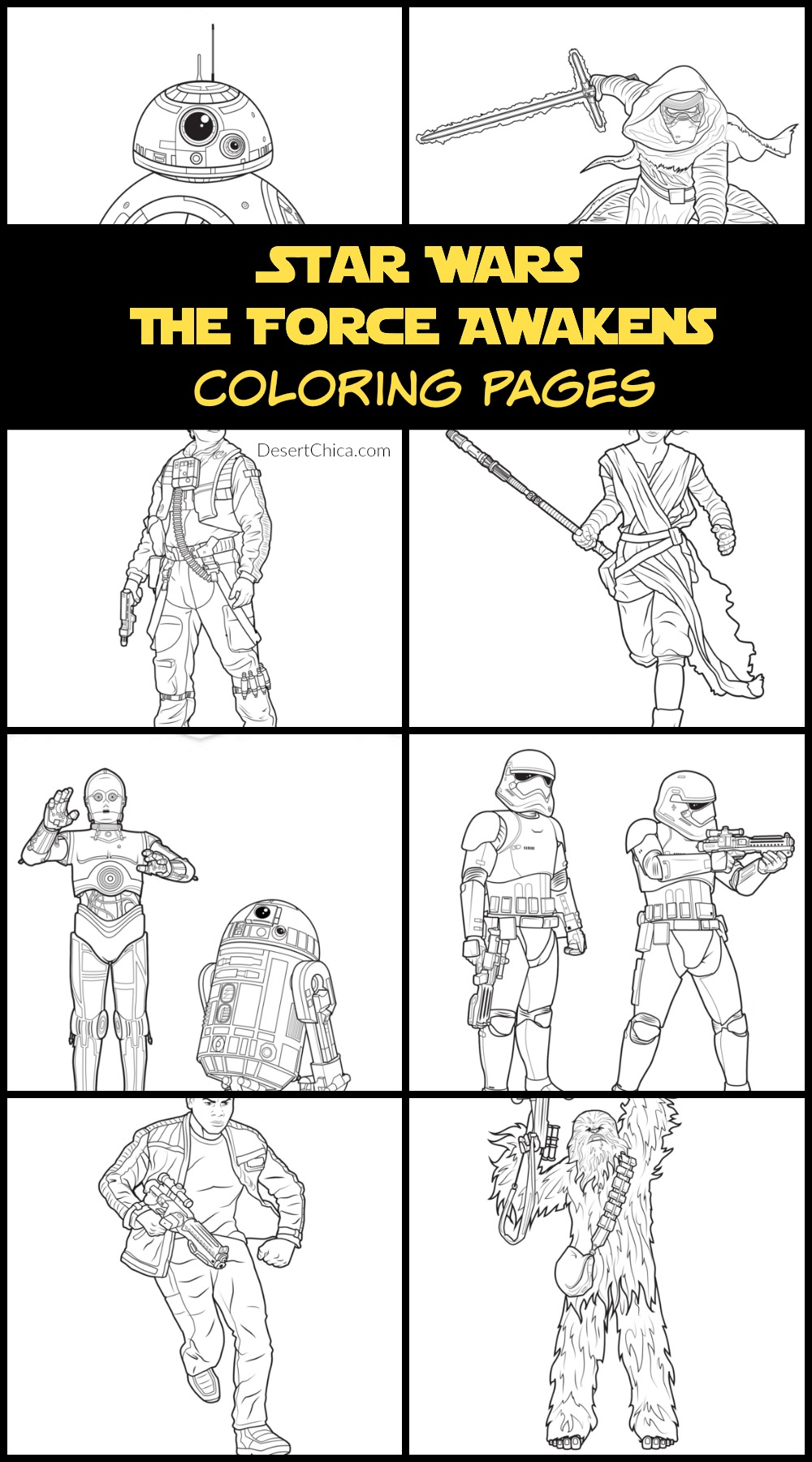 Star Wars The Force Awakens Coloring Pages and Activities | Desert Chica