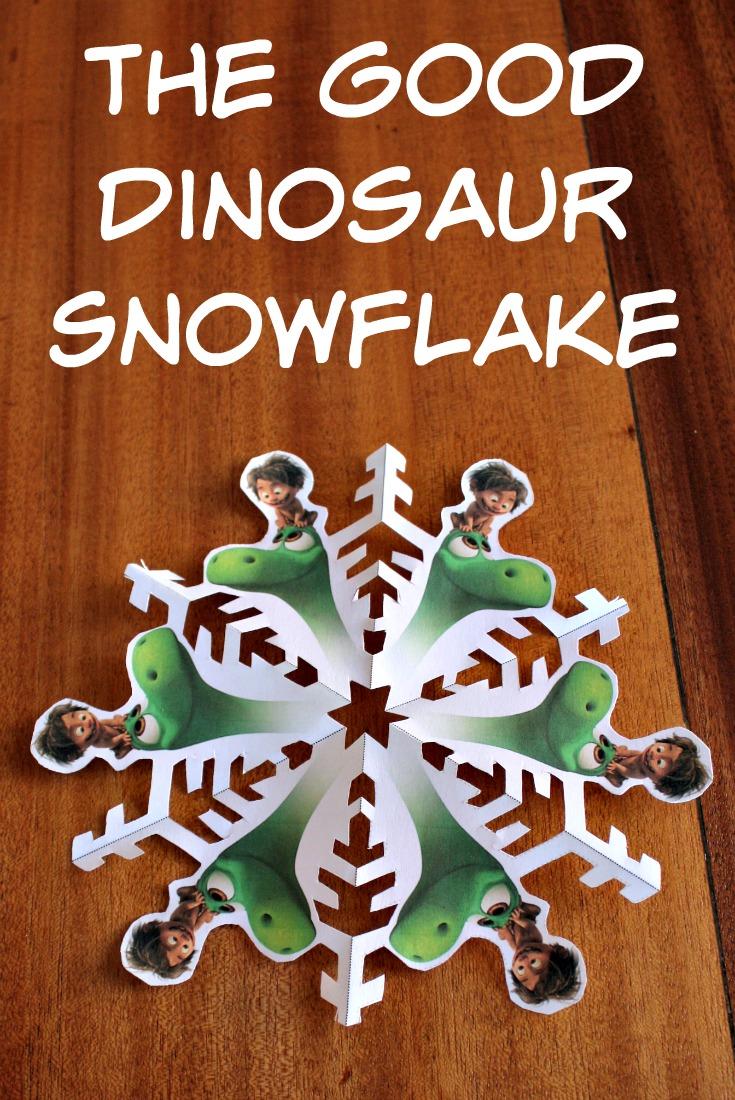 The Good Dinosaur Snowflake printable