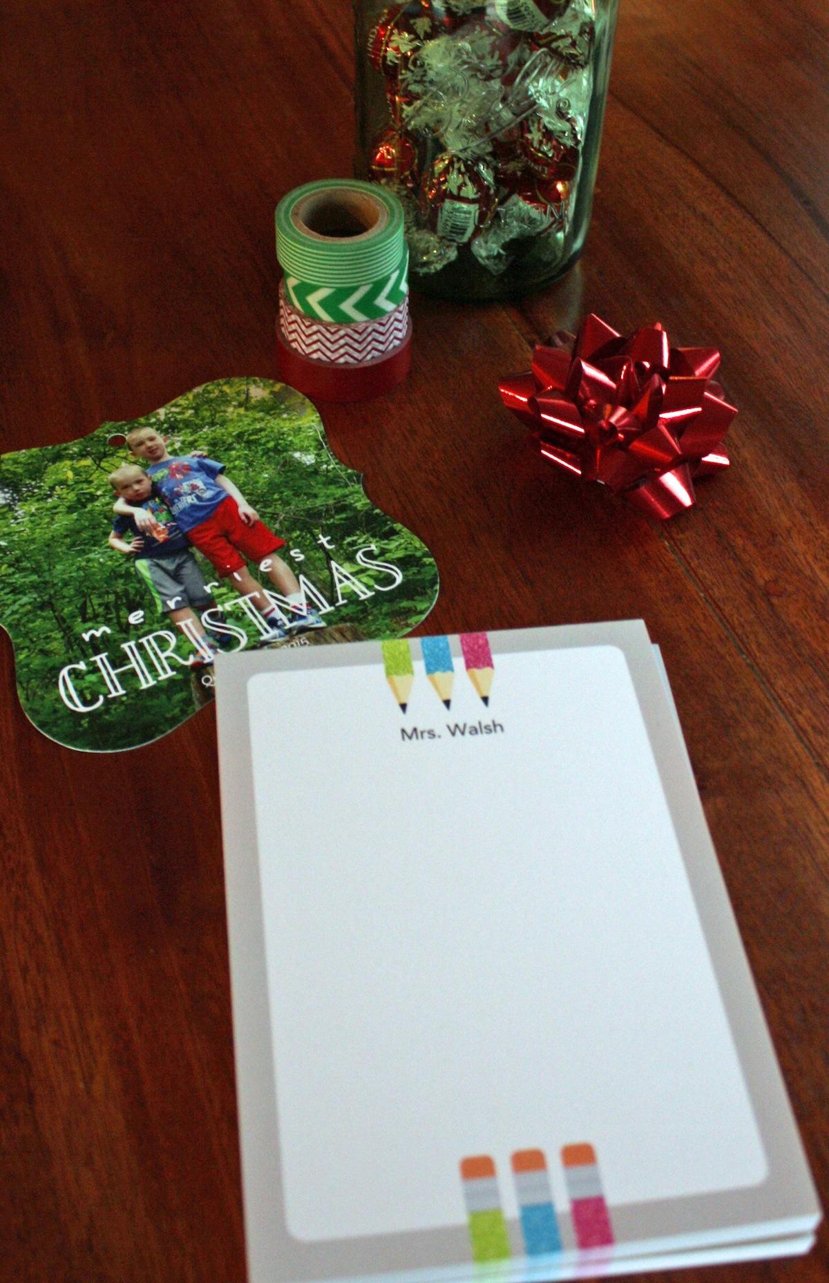 Tiny Prints Custome Notepad Teacher Gift Idea