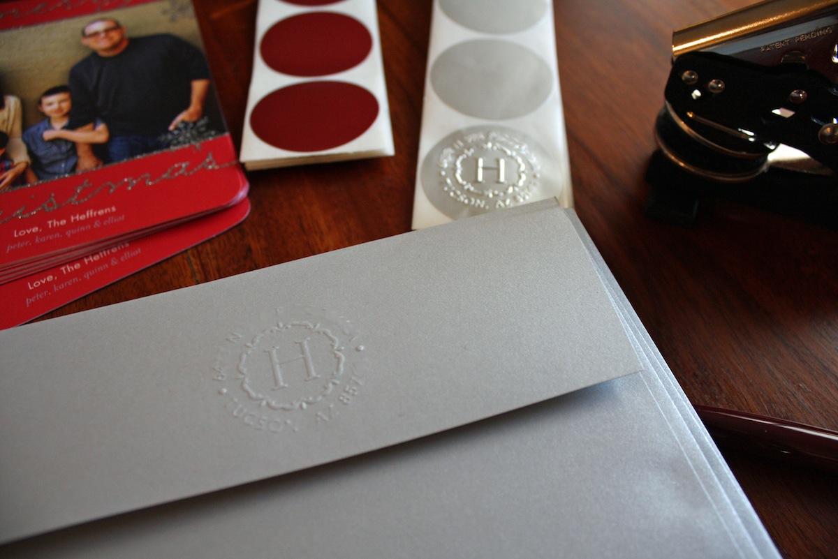 Tiny Prints Envelope Embosser For Christmas Cards