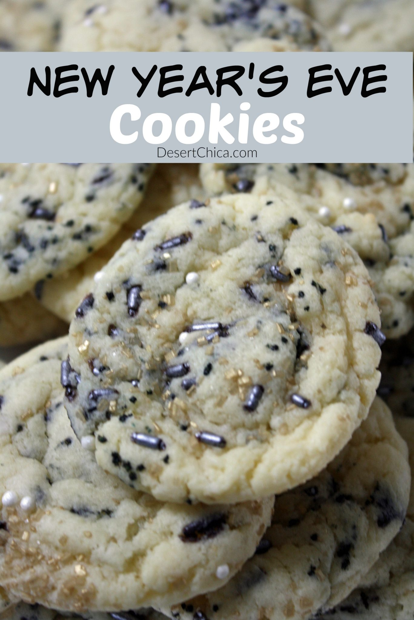 Looking for an easy New Year's Even dessert? How about these cake mix New Year's Eve Cookies. So easy with just a couple of ingredients!