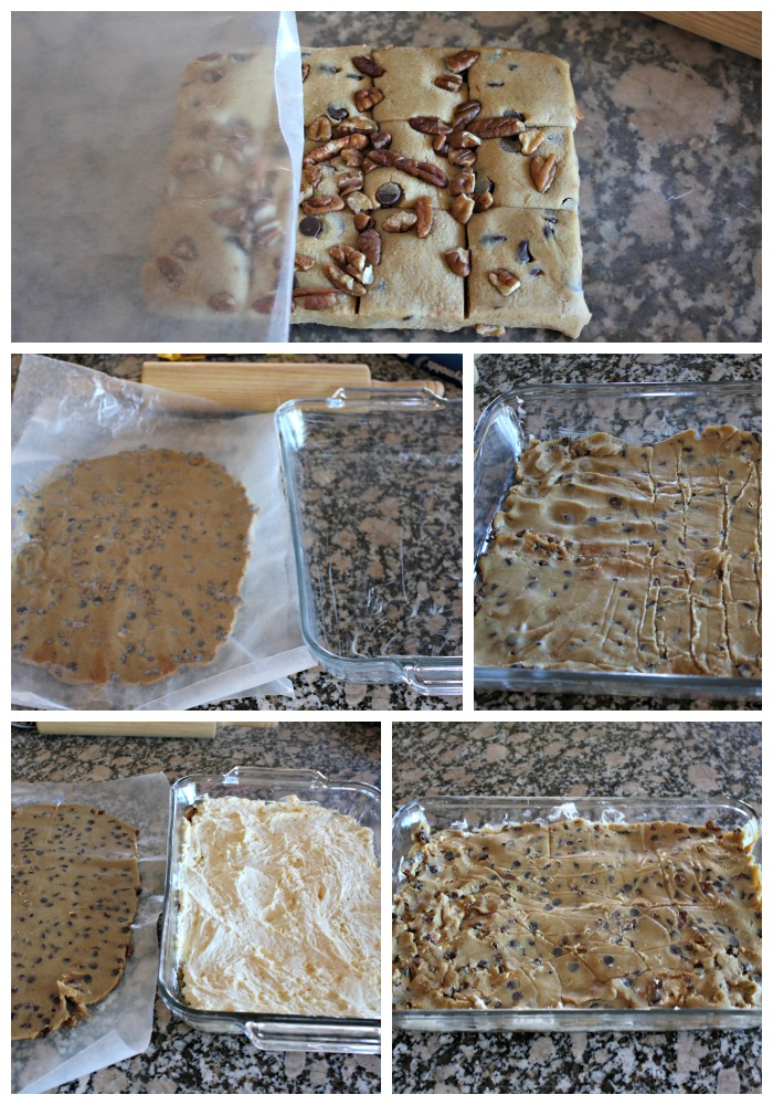 how to make turtle cheesecake cookie bars